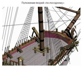 3d модель фрегата Святой Николай. 12