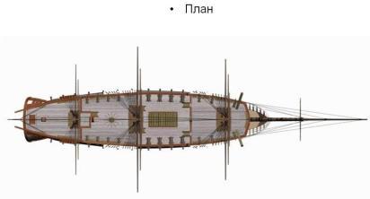 3d модель фрегата Святой Николай. палуба