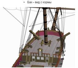 3d модель фрегата Святой Николай. 7