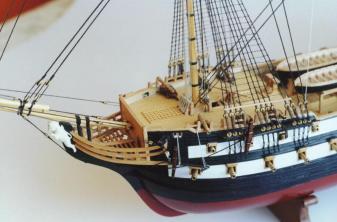 Авторская модель корабля Святой Павел  нос