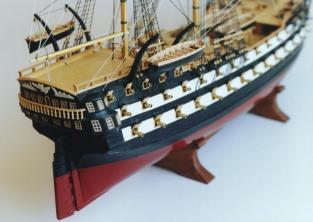 Модель корабля Святой Павел ручной работы, корма