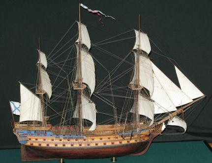 Модель корабля Святой Павел ручной работы, общий вид