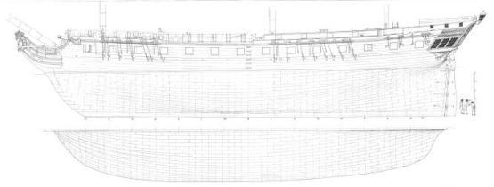 фрегат Венус. корпус