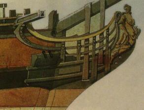 фрегат Венус. чертеж гальюн