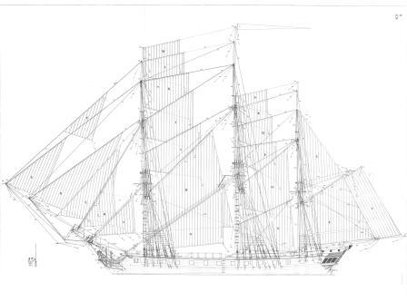 фрегат Венус. чертеж 1