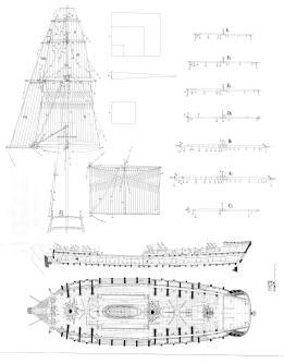 фрегат Венус. чертеж 2