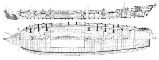 Планы  фрегата Венус. чертеж 4