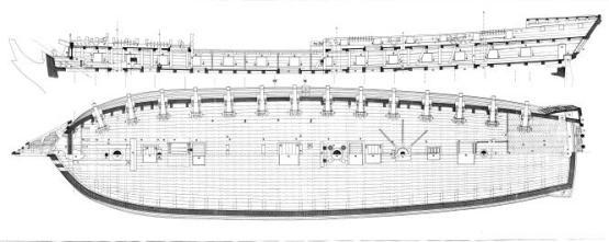 Чертёж фрегата Венус 5