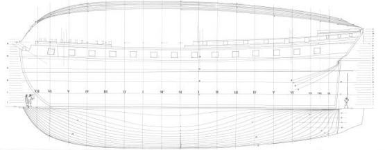 Чертёж фрегат Венус. 6