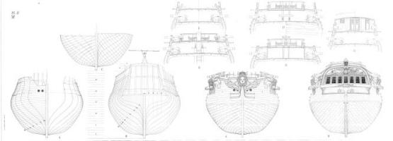 Чертёж фрегата Венус 7