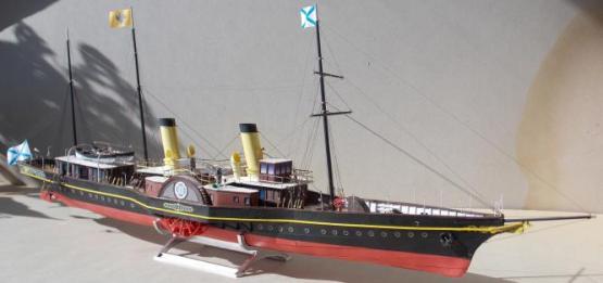 Авторская модель яхты Александрия.  общий вид