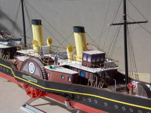 Модель яхты Александрия ручной работы