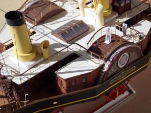 модель яхты Александрия ручной работы 5
