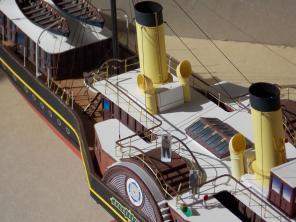 модель яхты Александрия ручной работы 8