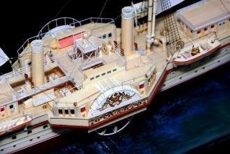 Авторская модель яхты Держава.  10