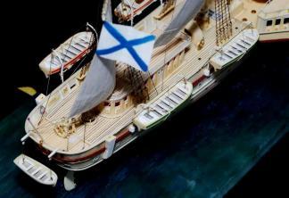 Авторская модель яхты Держава.  11
