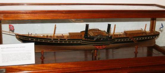Авторская модель яхты Держава.  общий вид