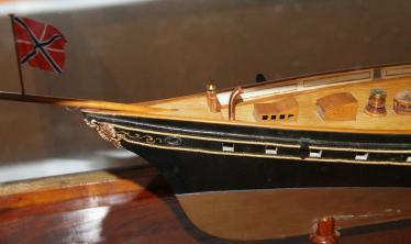 Модель яхты Держава ручной работы
