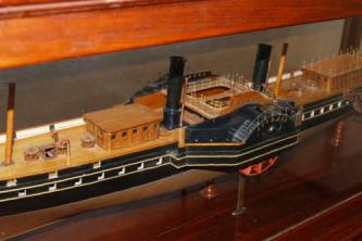 модель яхты Держава ручной работы 5
