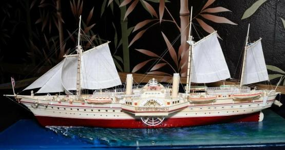 Авторская модель яхты Держава 6