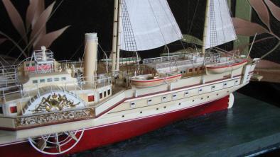 модель яхты Держава ручной работы 8
