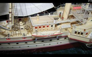 Авторская модель яхты Держава.  9