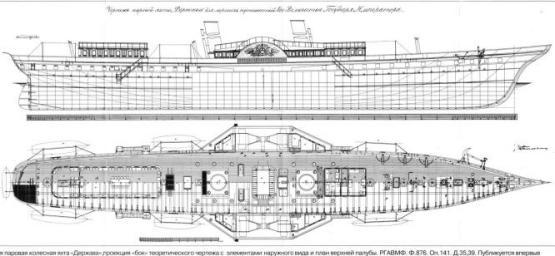 яхта Держава. чертеж 1
