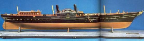Авторская модель яхты Ливадия 1873. Петергоф