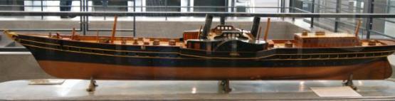 Модель яхты Ливадия 1873 ручной работы ЦВММ
