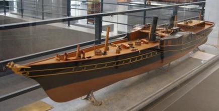 Авторская модель яхты Ливадия 1873 ЦВММ