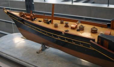 модель яхты Ливадия 1873 ручной работы 5 ЦВММ