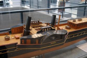 Авторская модель яхты Ливадия 1873 6 ЦВММ