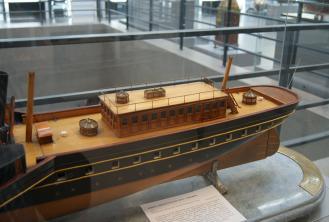 модель яхты Ливадия 1873 ручной работы 8 ЦВММ