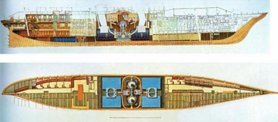 яхта Ливадия 1873. чертеж