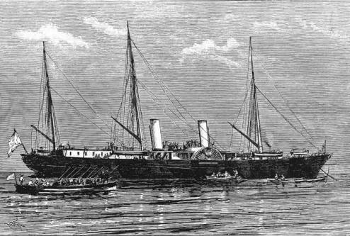 яхта Ливадия 1873.