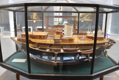 Авторская модель яхты Ливадия. ЦВММ общий вид