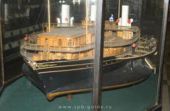 Модель яхты Ливадия ручной работы ЦВММ