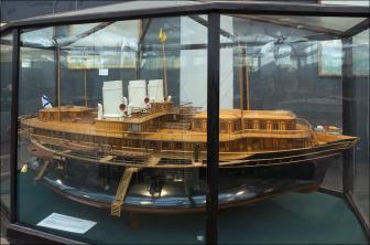Авторская модель яхты Ливадия ЦВММ