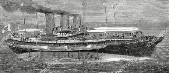 яхта Ливадия в море