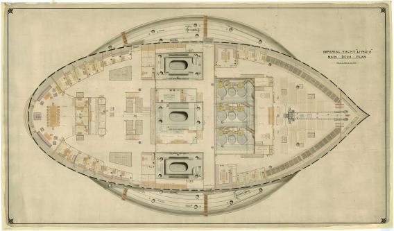 Планы  яхты Ливадия. интерьер