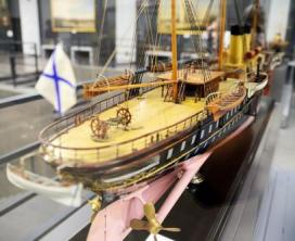 Модель яхты Полярная звезда ручной работы
