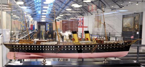 модель яхты Полярная звезда ручной работы 5