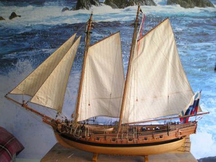 Авторская модель яхты RoyalTransprt.  общий вид