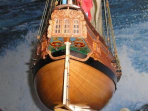 модель яхты Ройал Транспорт ручной работы 8