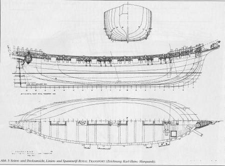 яхта Ройал Транспорт. чертеж 2