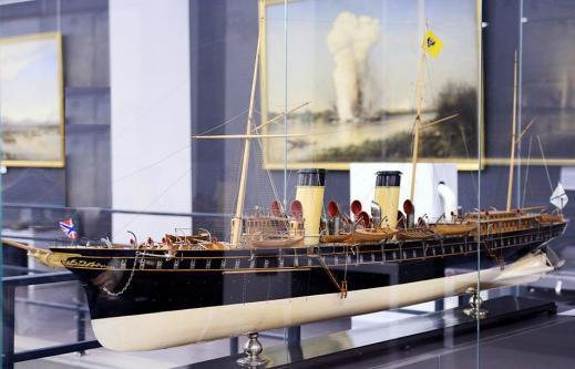 Авторская модель яхты Штандарт. ЦВММ общий вид