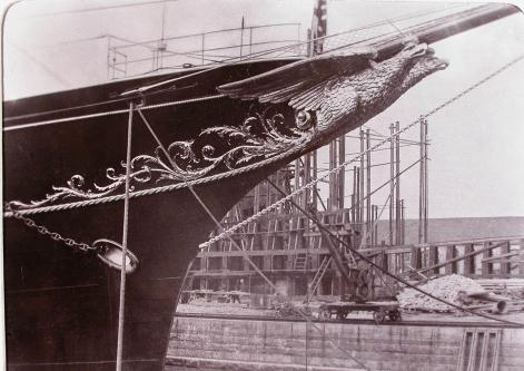 яхта Штандарт. Носовая фигура 1