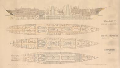 Чертёж яхты Штандарт палубы