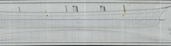 яхта Штандарт. теоретический чертёж