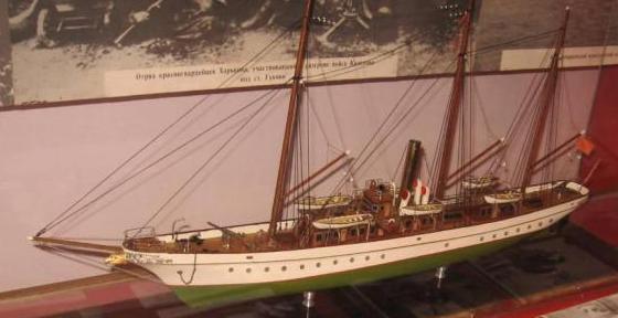 Авторская модель яхты Тамара. общий вид
